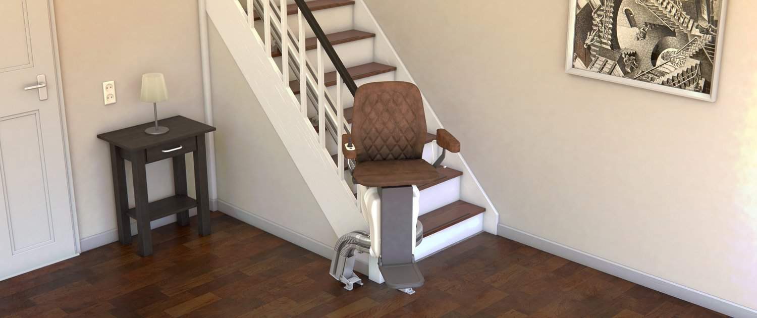 UPstairlift Curved stairlift